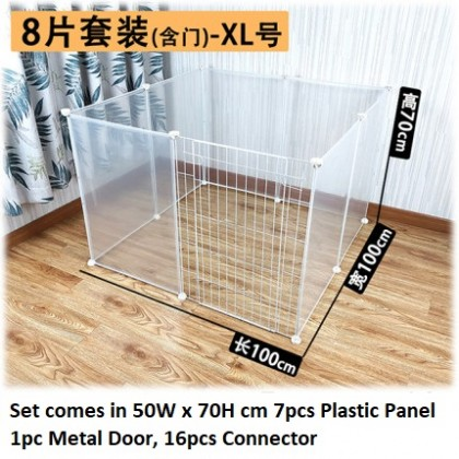 Plastic 8-Panel Playpen with door